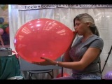 Tara Bush blow to pop red balloon